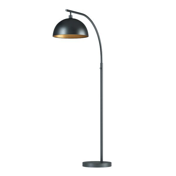 Imagine The Perfect Floor Lamp The Tall Height The Sleek All Black Finish A Trendy Dome Shade And A Conv Arc Floor Lamps Tall Floor Lamps Metal Floor Lamps Black contemporary floor lamp