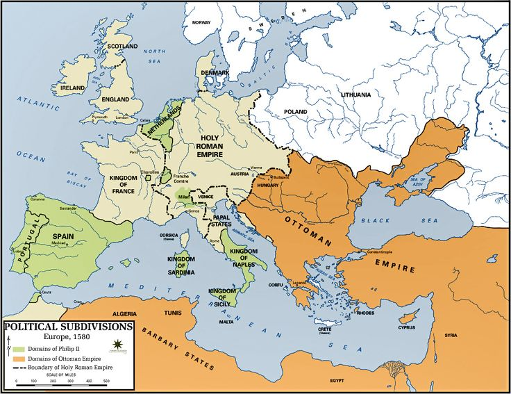 Battle of Lepanto - 1571. Extent of the Ottoman Empire in the 16th Century.