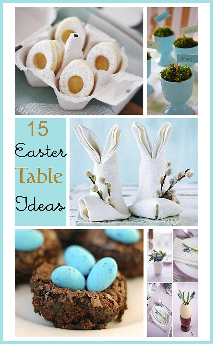 15 Beautiful, inspiring, fun and yummy  Easter Table Ideas. www.songbirdblog.com