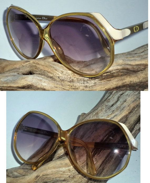 Rare Dior NOS 80s Oversized Sunglasses Butterfly by MushkaVintage3