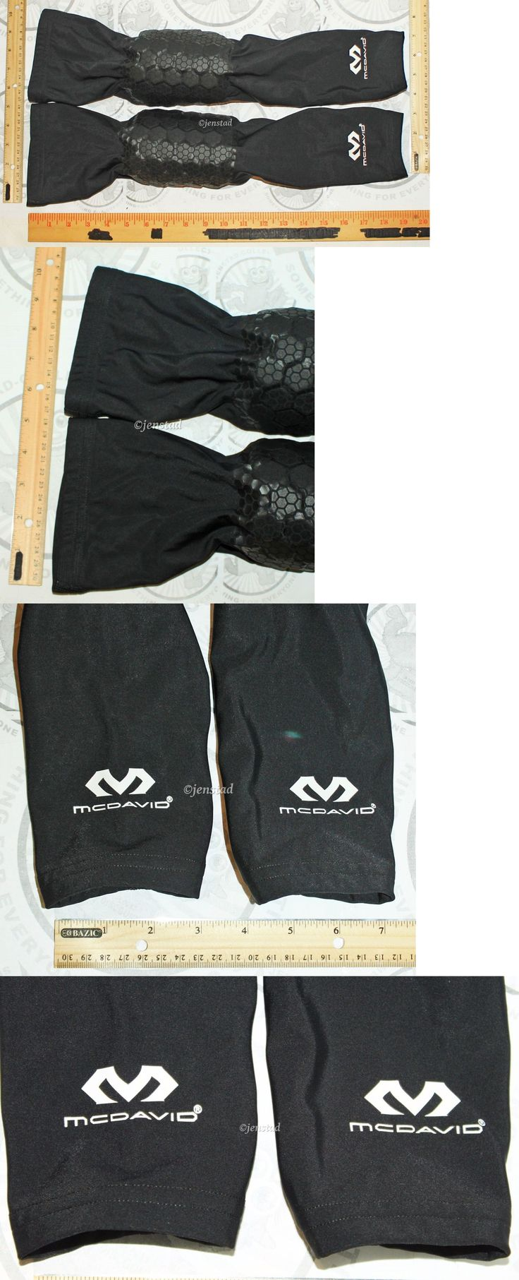 Support and Protective Gear 158919: Mcdavid Teflx Hex Pad Leg Sleeve Black Men Women Impact Protection Large BUY IT NOW ONLY: $34.94