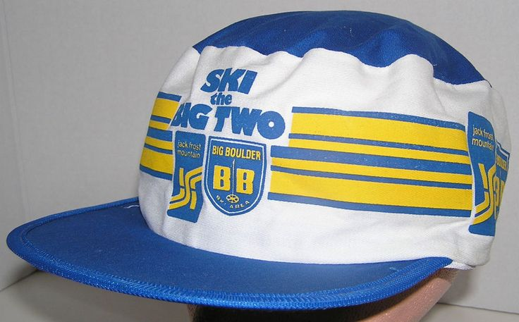 Ski The Big Two Jack Frost Mountain Big Boulder Vintage 80's Painter Style Hat #na #PainterCap