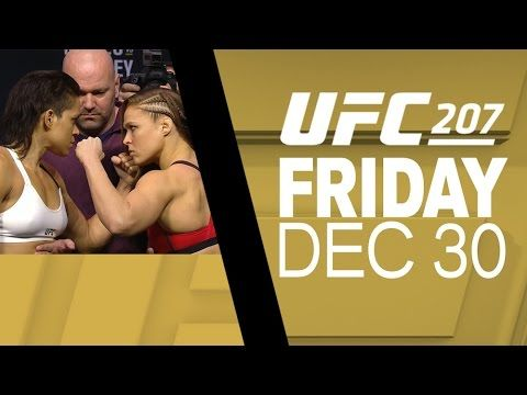 UFC 207: Nunes vs Rousey - Weigh-in Faceoffs - YouTube