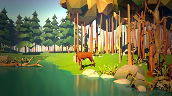 Low poly by Vitaliy Prusakov, via Behance