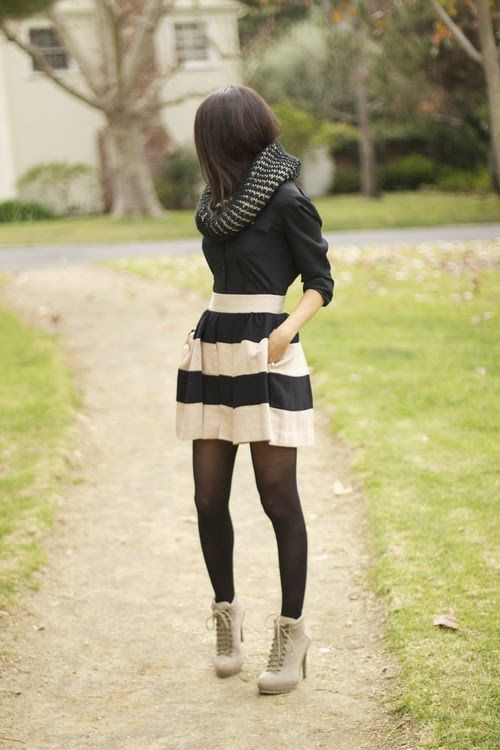 Luv to Look | Luxury Fashion & Style: Pretty street style striped skirt