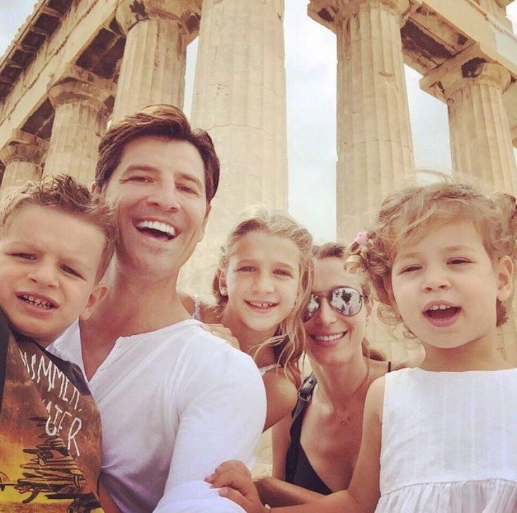 Rouvas family at Acropolis,Athens,Greece