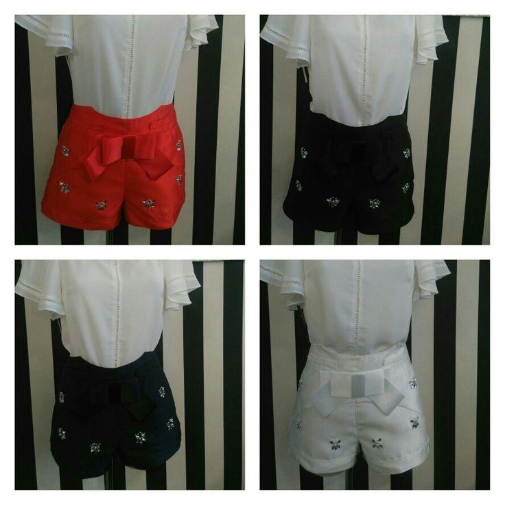 Short blanco negro rojo marino. Talla S-M-L-XL precio único 25€