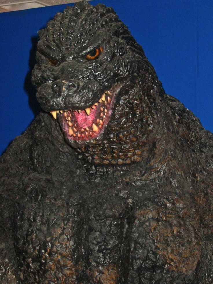 Close Up Of The Godzilla Heisei Suit From A Display I Saw