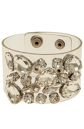 The Crystal Clear Jelly Bracelet $24, at Karmaloop!