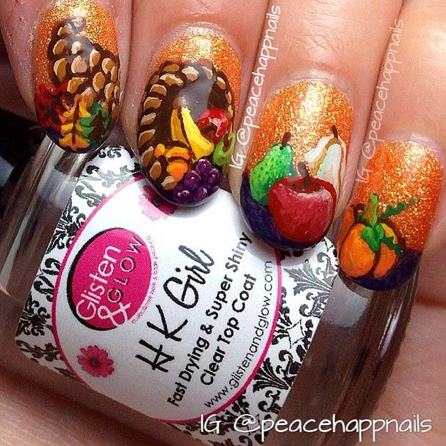 19 best thanksgiving nails images on pinterest autumn nails fall cornucopia by peacehappnails nail nails nailart thanksgiving solutioingenieria Image collections