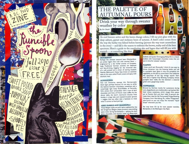 Great use of simple images and collage. Love the playfulness of this spread.