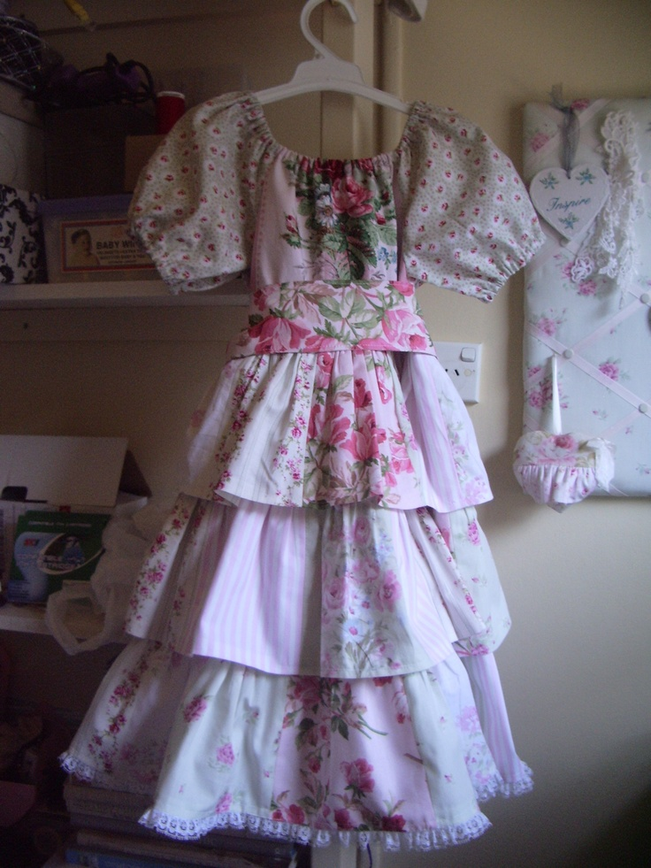 3 tiered dress which includes vintage fabric