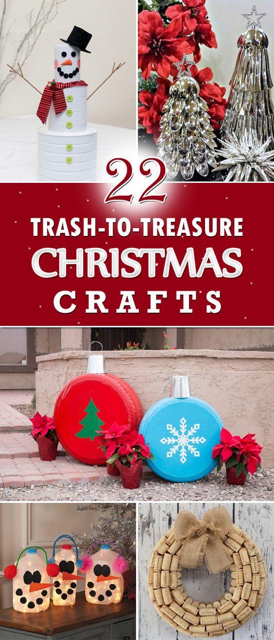 22 amazing trash to treasure christmas crafts christmas christmas crafts christmas. Black Bedroom Furniture Sets. Home Design Ideas