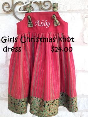 Girls christmas knot dress