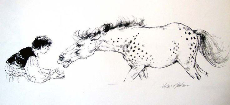 The Horse and His Boy by Victor Ambrus £395 Victor AmbrusBlack Ink