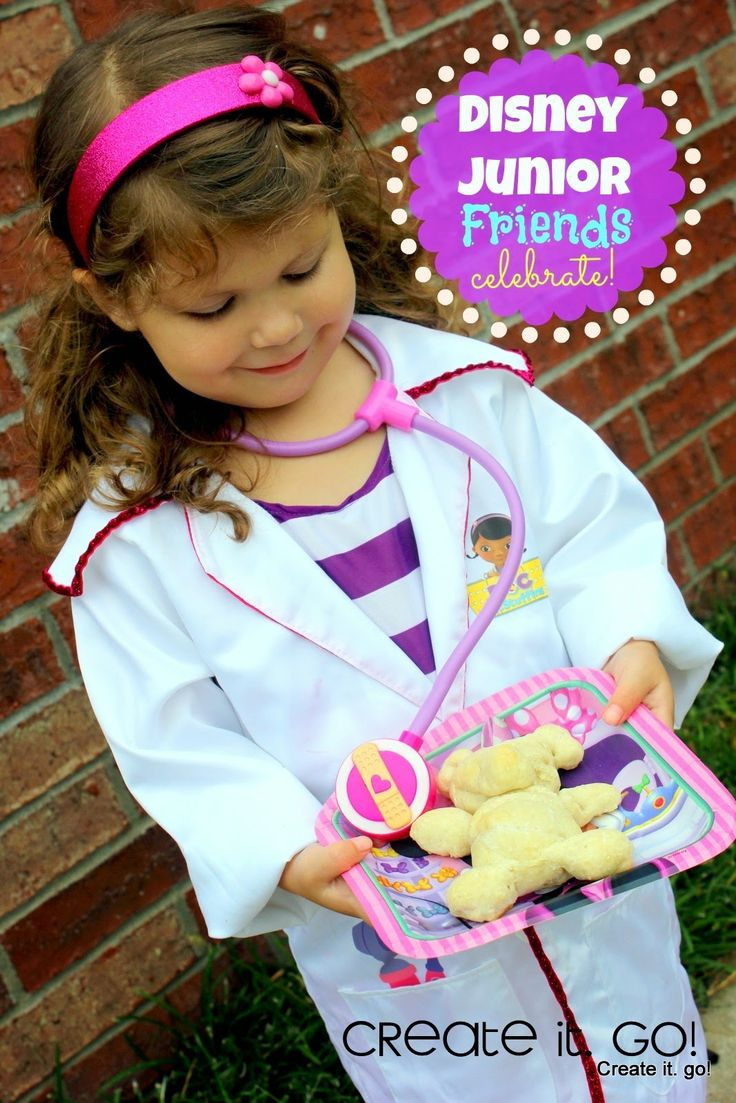 Disney Junior Friends Celebrate together! Doc McStuffins and Minnie Mouse party together with fun, food, and crafts and lots of smiles!