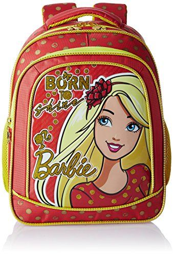 Barbie Polyester 16 Inch Red and Yellow Children s Backpack (Age group  6-8  yrs) 44e5dbc4de5cb