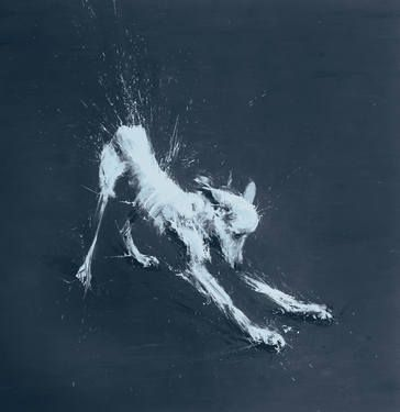 "Saatchi Art Artist Miroir Noir; Painting, ""Big Plazma Dog"" #art"