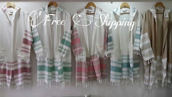 Bamboo Peshtemal bathrobe Traditional Turkish by LAMEDORE on Etsy