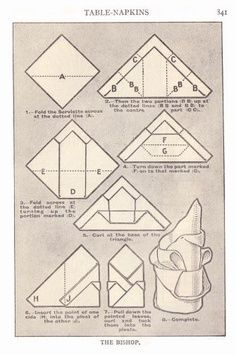 The Bishop Table Napkin Folding  sc 1 st  Pinterest & 69 best napkins images on Pinterest | How to fold napkins Napkin ...