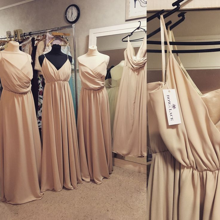 Champagne bridesmaid dress made to order