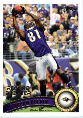 2011 Topps Football Card #217 Anquan Boldin RB - Baltimore Ravens (Record Breaker) NFL Trading Card by Topps. $1.89. 2011 Topps Football Card #217 Anquan Boldin RB - Baltimore Ravens (Record Breaker) NFL Trading Card