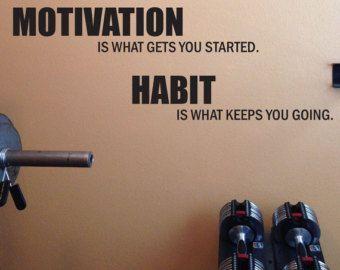 Remise en forme Motivation travail hors décalque de mur.