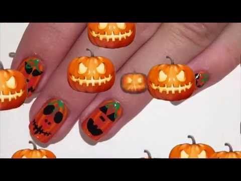 Unghie Decorazioni Semplici Fai Da Te - Decorazioni Unghie Halloween -  ...