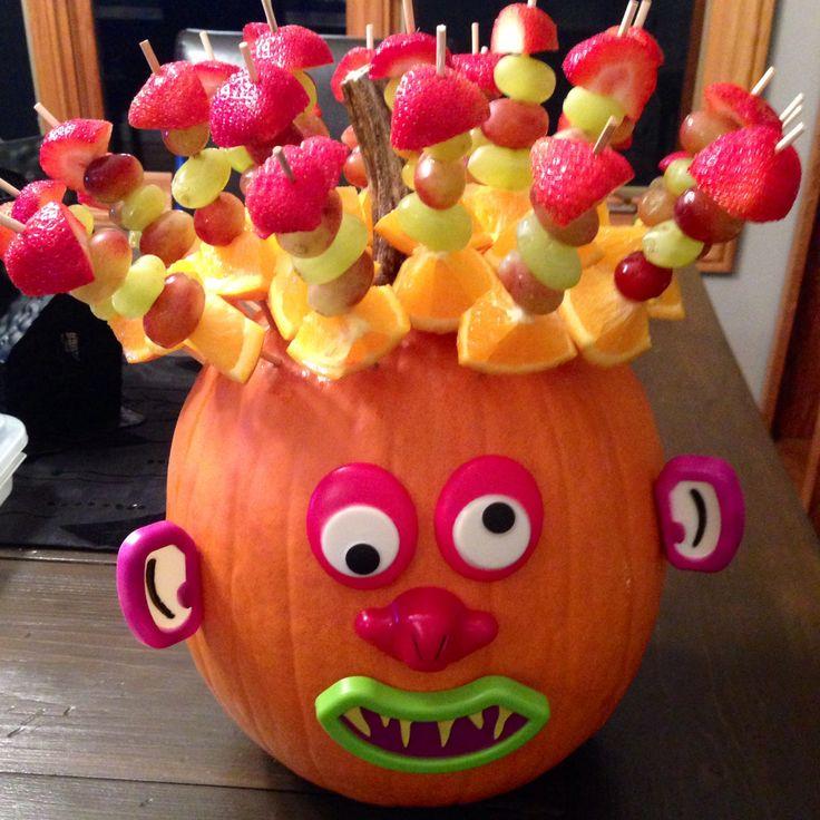 Healthy Halloween classroom snack!!! So easy!