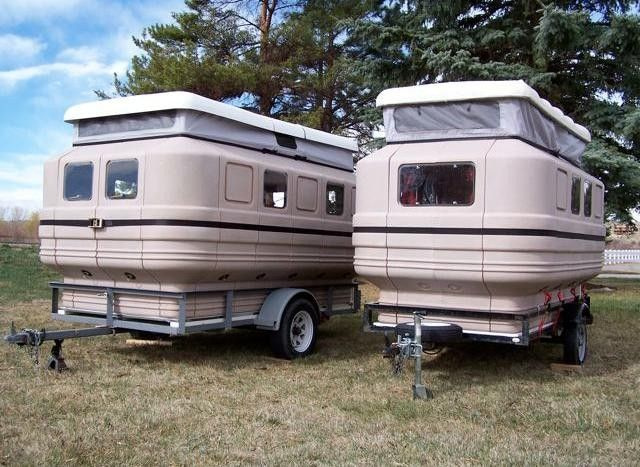 Teal Camper assembles and breaks down...neat!