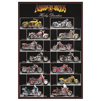 "24"" x 36"" Harley Davidson Chart Poster"