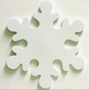 Copos de nieve relucientes crochet - Copos de nieve manualidades ...