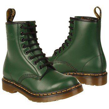 Dr. Martens 1460 W Boots (Green) - Women's Boots - 10.0 OT