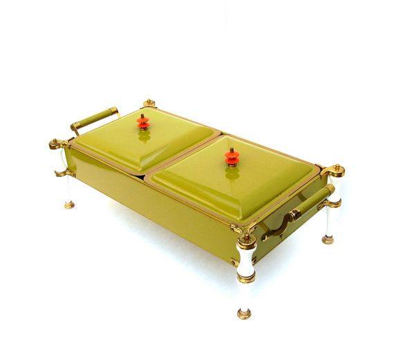 Mid century Modern Buffet Warmer Metal by OceansideCastle on Etsy, $58.99