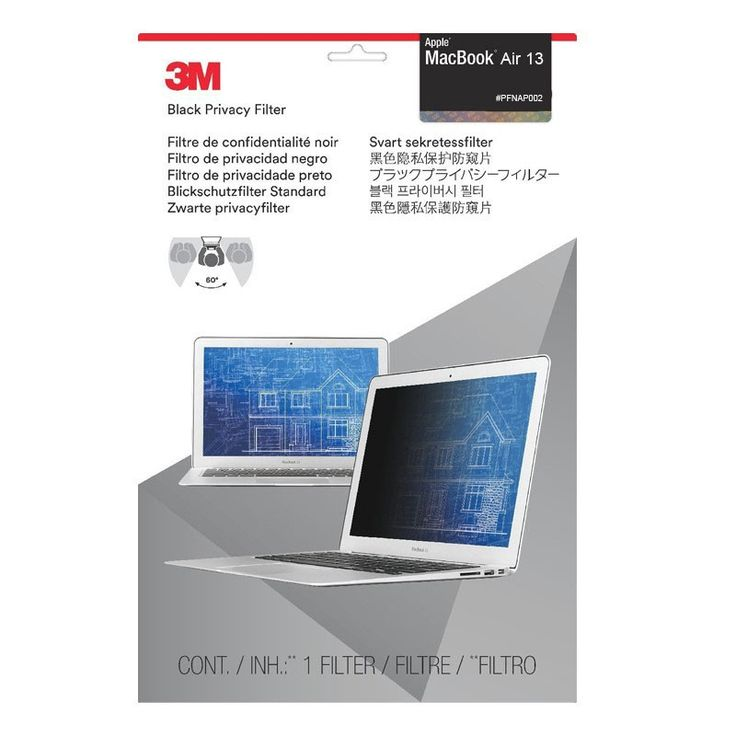 3M Privacy Filter for Apple MacBook Air 13-inch (PFNAP002) Black - Pelindung Layar Anti Spy.  - Menyimpan informasi pribadi menjadi aman - Sesuai dengan Apple MacBook Air 13-inch - Reversibel.  http://tigaem.com/3m-anti-spy-privacy-screen/2038-3m-privacy-filter-for-apple-macbook-air-13-inch-pfnap002-black-pelindung-layar-anti-spy.html  #macbook #privacyscreen #pelindunglayar #antispy #3M