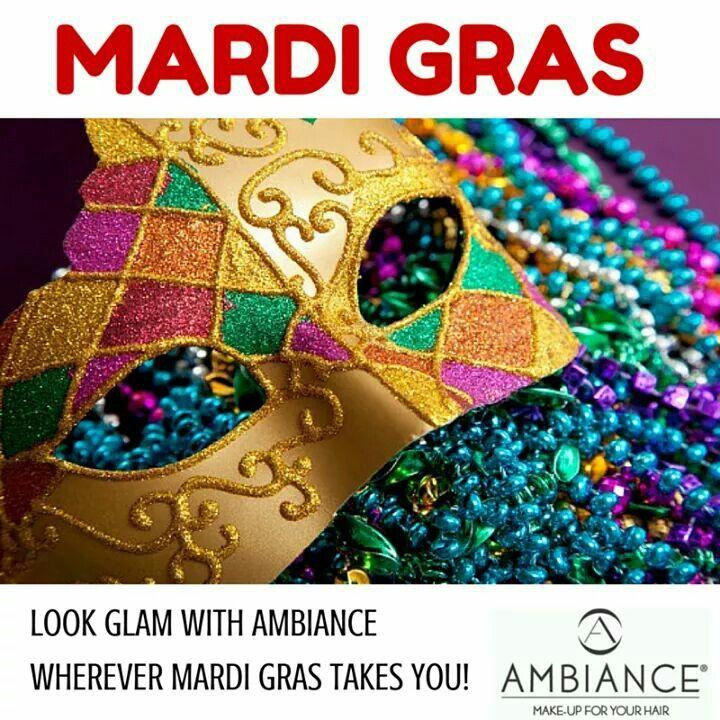 Mardi Gras ad for client @makeupforhair