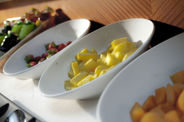 Our buffet breakfast with delicious fresh fruits