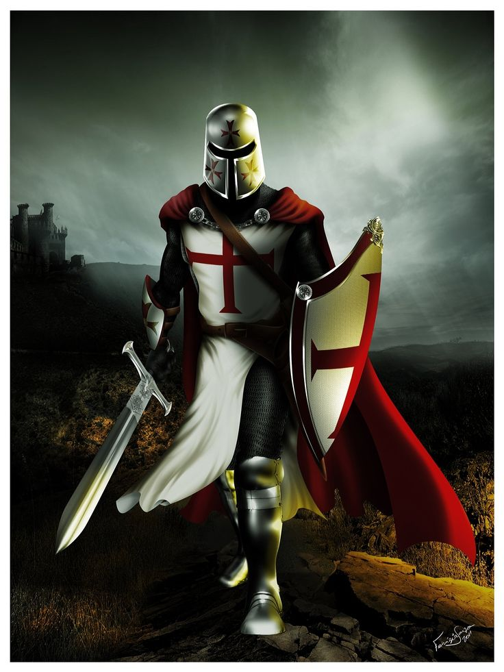 The Knights Templar warned us about the Muslims almost 1000 years ago. (Painting by Keith Doughty) Knights+Templar+Cross+ +knights+templar