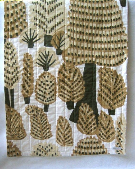 Marimekko organic baby quilt / pine forest dwellers / eco friendly mod kids scandinavian-inspired bedding