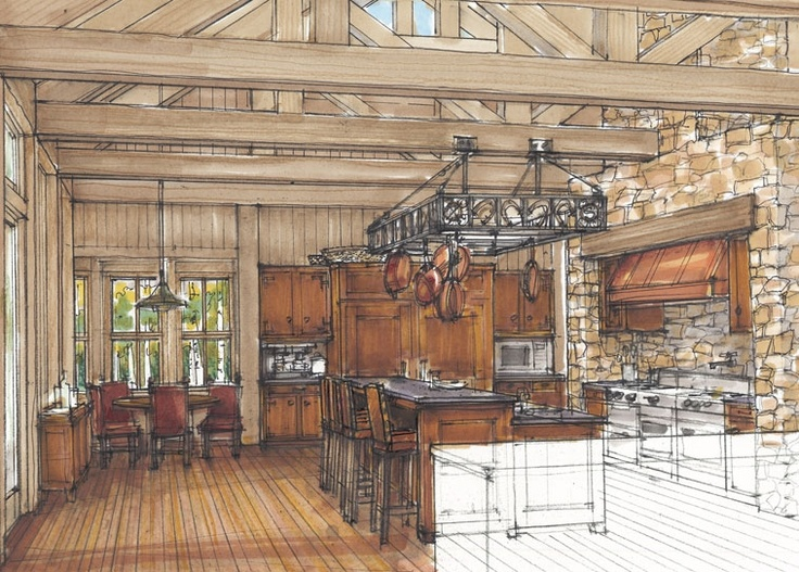 [Marker and pencil rendering  via kaadesigngroup.com]  very cool how the counter in the foreground is left transparent