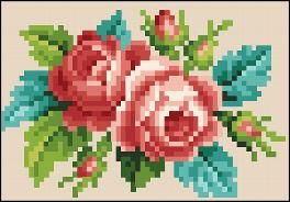 Victorian Cross Stitch and Berlin Wool Work Patterns - roses