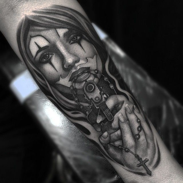 Gangster Clown Tattoos