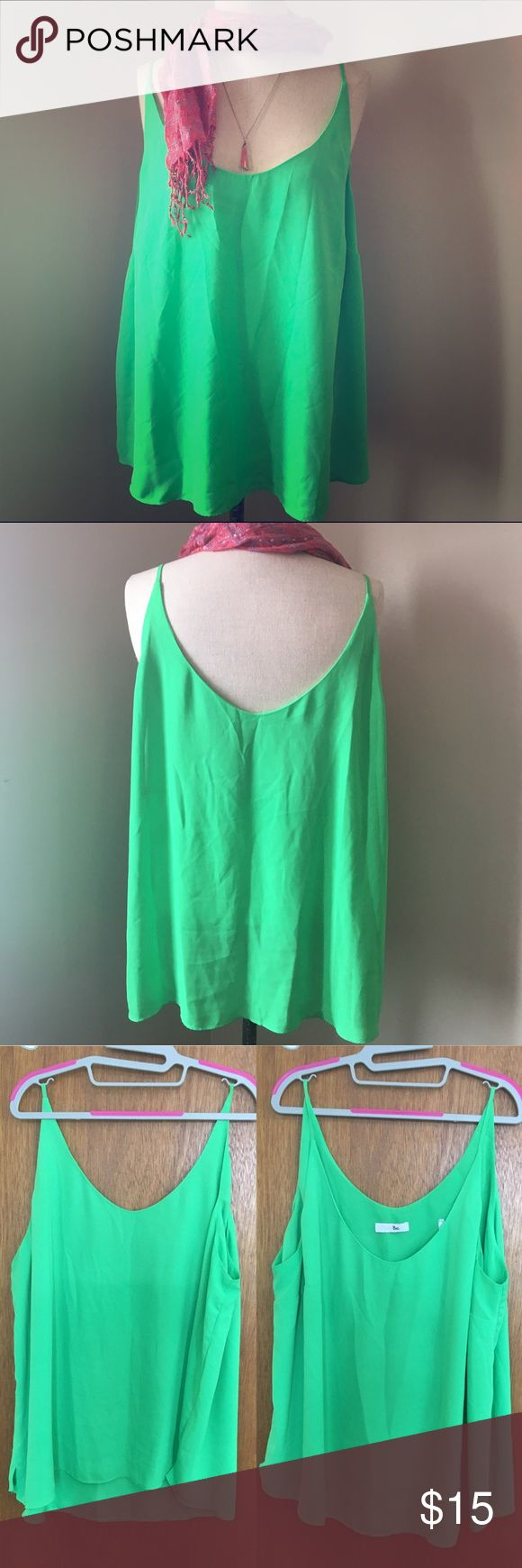 Lime Green Cami Multi layer lime green Cami. Flowy and bright, front and back are made up of two layers, one is considered lining. Made of polyester. Simply Be Tops Camisoles