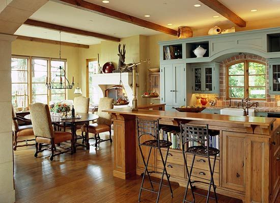 Elegant Kitchens with Warm Wood Cabinets - Traditional Home®