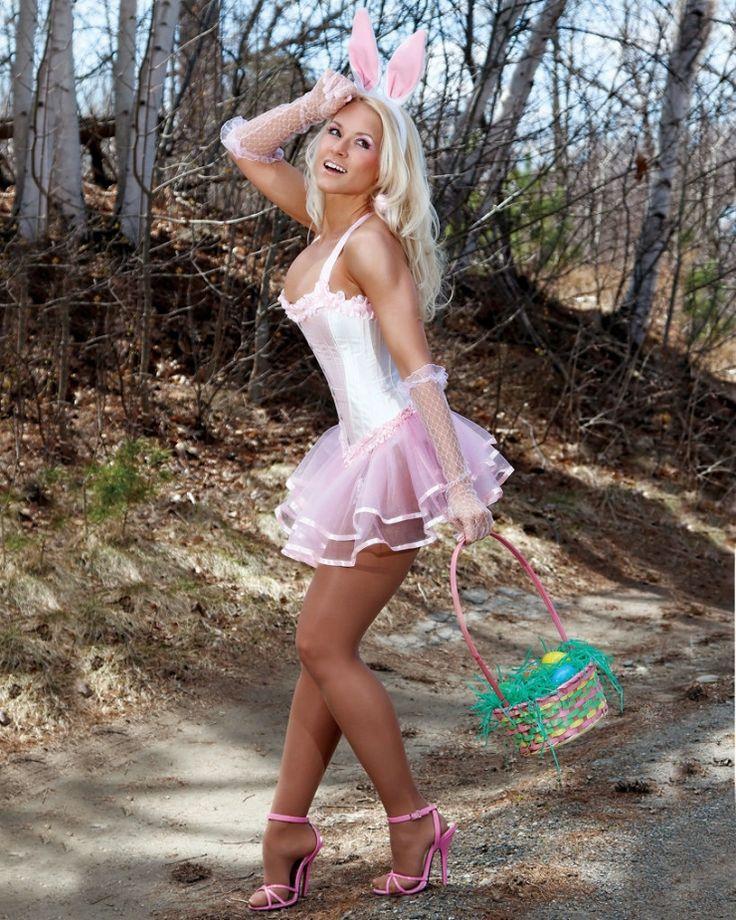Pleasure bunny nylons heels   Adult photo)