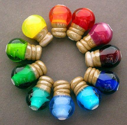 A rainbow bead color wheel
