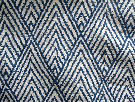 IKAT geometric on cotton In BLUE Sapphire