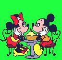 Micky Mouse and Minnie Mouse
