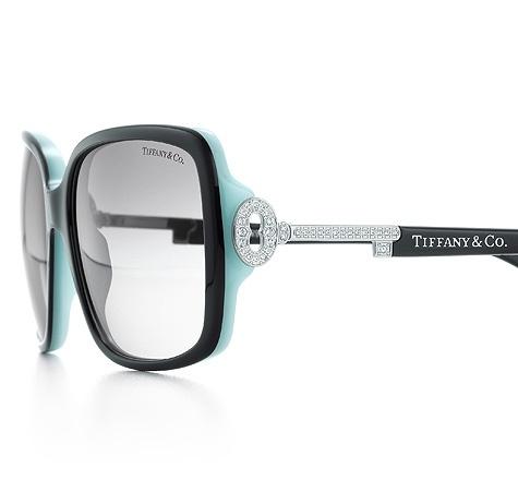 Tiffany & Co. | Item | Tiffany Keys rectangular sunglasses in black acetate with silver-colored keys. | United States