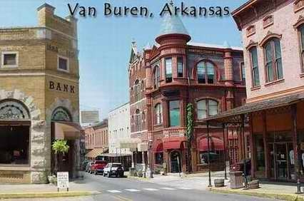 A wonderful little town, Van Buren, with street lined shops and restaurants.  Also old-time train rides.
